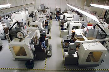 rah industries shop floor cnc machining